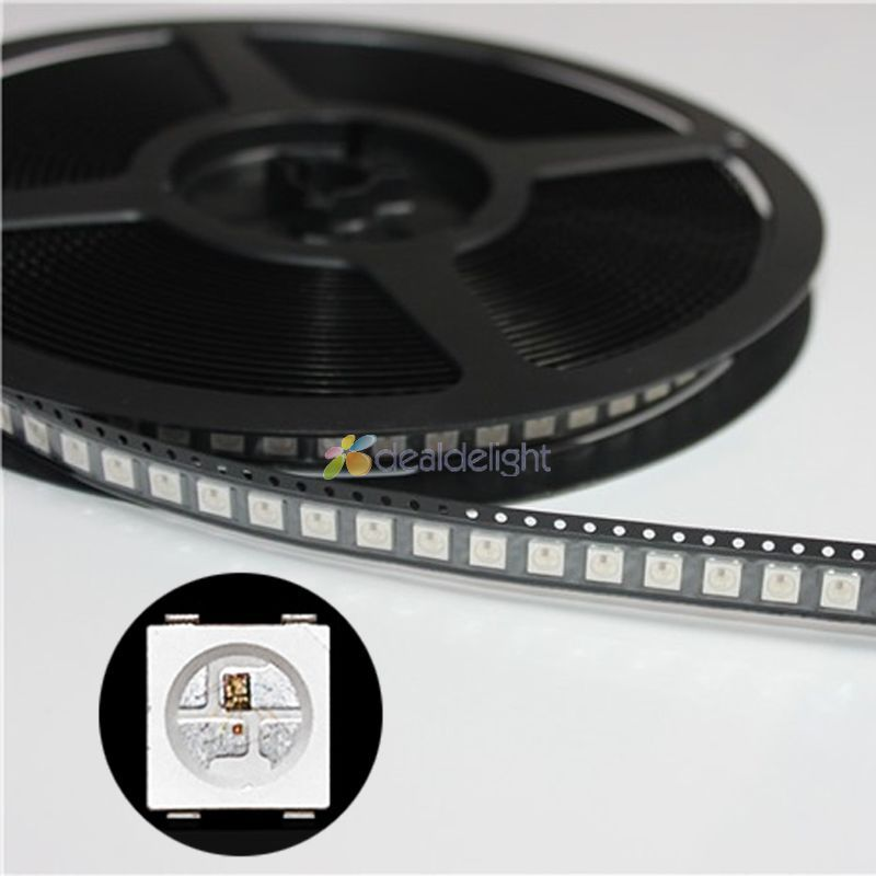 1000pcs DC5V WS2812B 4Pins 5050 SMD with Built in WS2811 IC Individually Addressable Digital RGB LED