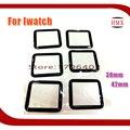 5 pçs/lote para apple watch 38mm 42mm melhor qualidade de vidro parte substituição lens tela frontal outer vidro para iwatch preto