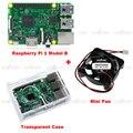 Raspberry Pi 3 Модель B Kit Со Встроенным WI-FI и Bluetooth + Прозрачный Чехол + Вентилятор Охлаждения Set