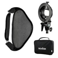 Ajustable Flash Softbox 80cm 80cm S Type Bracket Mount Kit For Flash Speedlite Studio Shooting