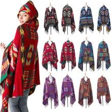 Mingjiebihuo Новая мода осень зима теплая плотная Удобная шаль плащ для женщин девочек народное праздничное пончо шарф