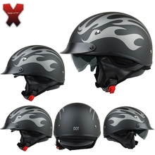 Высокое качество крейсер мотоцикл шлем для Harley мотоциклетный шлем DOT утвержденная witn внутренний черный солнцезащитных очков