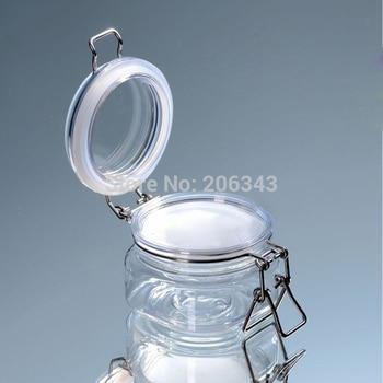 180g transparent plastic cream jar, sealing pot/jar for cream/gel/facial scrup/body scrub /mask cream containing
