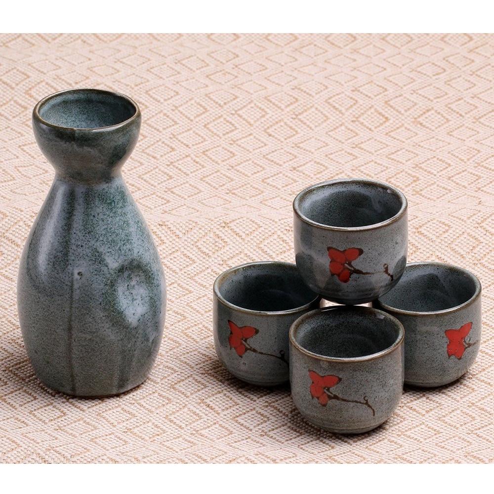 5 unids 170 ML porcelana japonesa pintada a mano Copa de vino Sake Pot Copas Set Cocina Comedor Bar Drinkware Hip Frasks Porcelana Taza de té