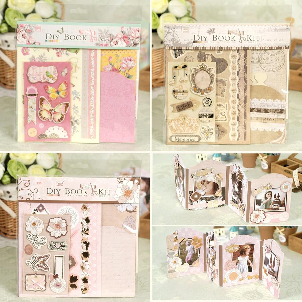 How to scrapbook a mini album - Aliexpress Com Buy Cute Diy Album Kit Pocket Scrapbook Mini Album For Kids Friend Creative Photo Album Gift From Reliable Mini Robosapien Suppliers On