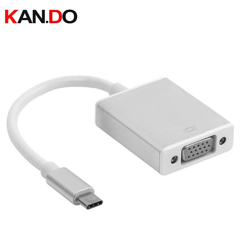 USB-C USB3.1 Type C for Cable Adapter VGA Male to VGA Female Video Transfer US