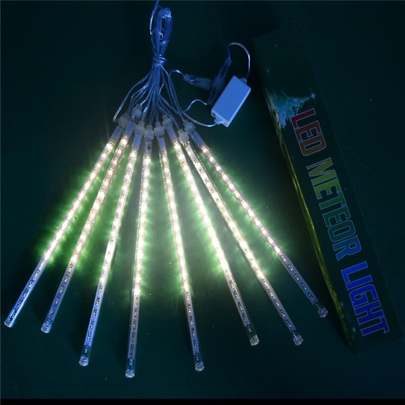8Pcs EU/US/BR/AU Plug Multi-color 30CM Meteor Shower Rain Tubes LED Christmas Lights Wedding Garden Xmas String Light Outdoor,Q