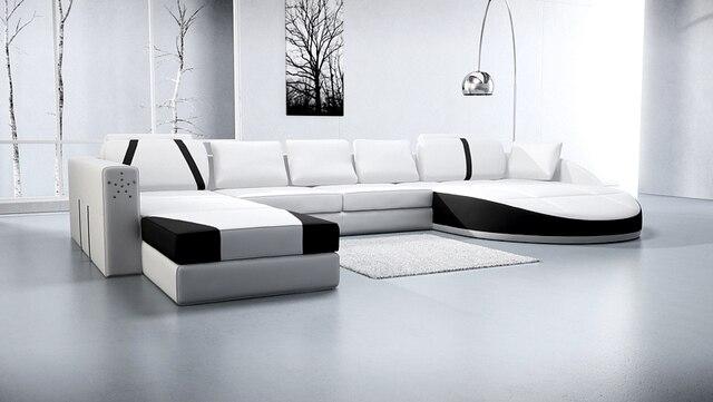 Elegante colore bianco divano scenografie e prezzi divano mobili ...