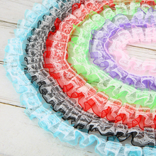 One Meter Lace Ribbon Handmade Crafts Embroidered Net Trim Fabric DIY Sewing Quilting Patchwork Accessories Material