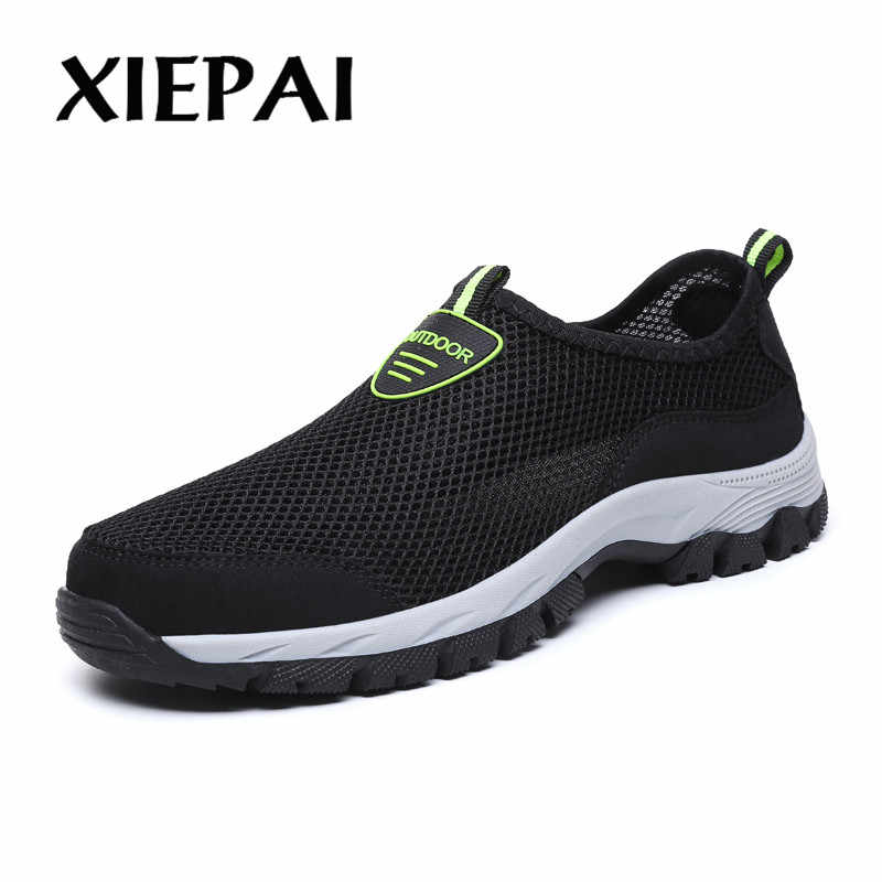 2019 Mannen Zomer Comfortabele Casual Schoenen Slip-on Ademend Air Mesh Flats Trainers Sneakers Water Loafers 39-49
