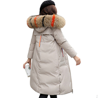 2019 High Quality Women Winter Jacket Hooded with Fur Collar Warm Thicken Female Coat Long Parka Winter Woman LM022