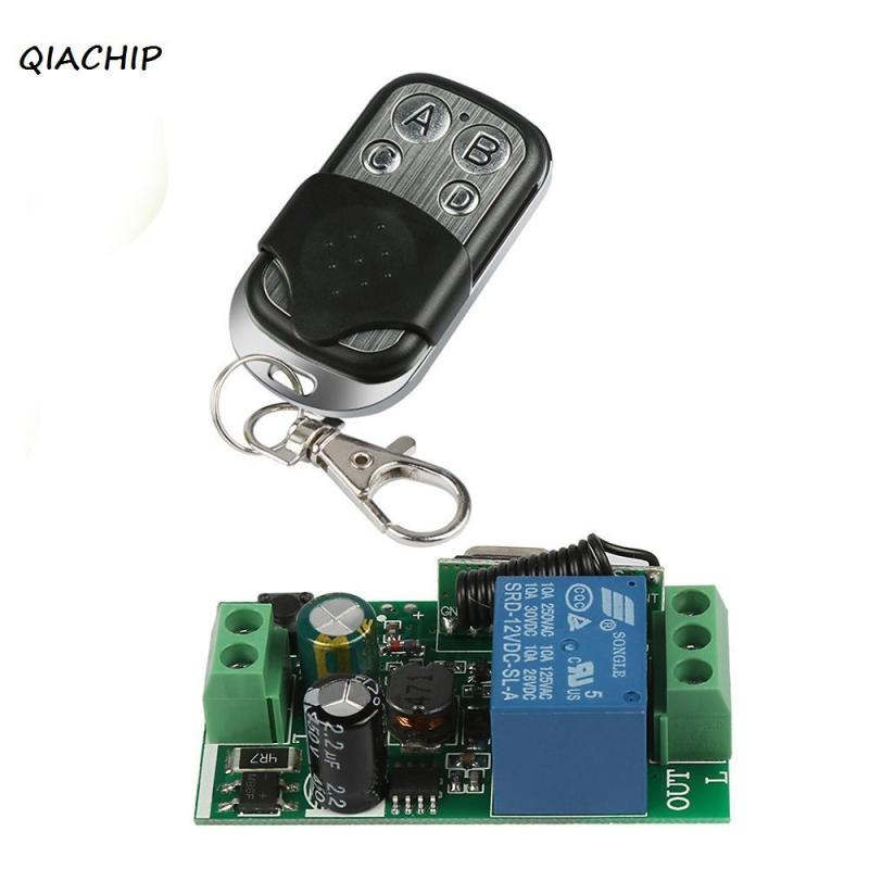 QIACHIP 433Mhz Wireless Remote Control touch Switch AC 110V 220V 1CH Relay Receiver Module and RF 433 MHZ Remote Control H4 ac 220v wireless remote control switch remote switch system 1ch relay module receiver