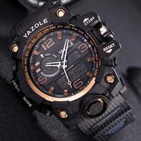 2019 YAZOLE Top Brand Sport Watches Multifunction Men's Watch Men Quartz Shock Digital Military Watches Clock relogio masculino