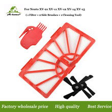 1 x Hepa Filters & 2 Side Brush & 1 Cleaning Tool Accessory Kits for Neato xv-11 xv-12 xv-14 xv-15 xv-21 Vacuum Cleaner Parts