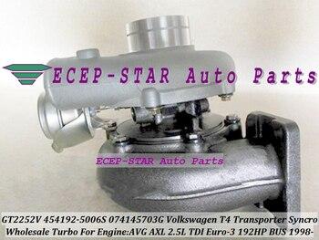 Free Ship GT2252V 454192 454192 5006S 074145703G Turbo Turbocharger For Volkswagen VW T4 Bus Transporter Syncro