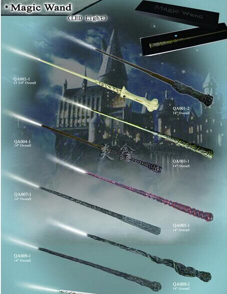 Led Lightting Cosplay Wand Of Harry Hermione Ron Dumbledore Voldemort Non-luminous Magical Wand New In Box