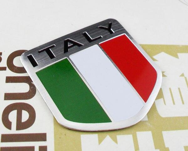 Auto car Aluminum ITALY Italian Flag shield Emblem Decal Badge Sticker auto car chrome black christian fish jesus emblem badge decal sticker