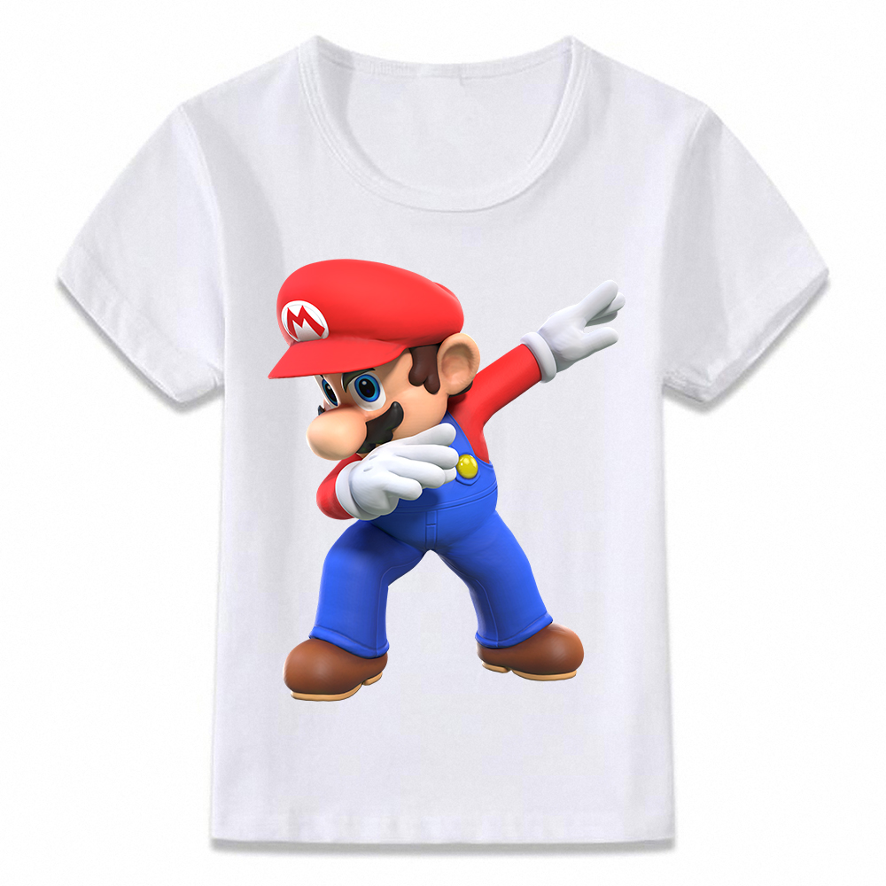 Kids Clothes T Shirt Dabbing Mario Odyssey Dab Funny Gaming Gamer Children T-shirt For Boys And Girls Toddler Shirts Tee Oal247
