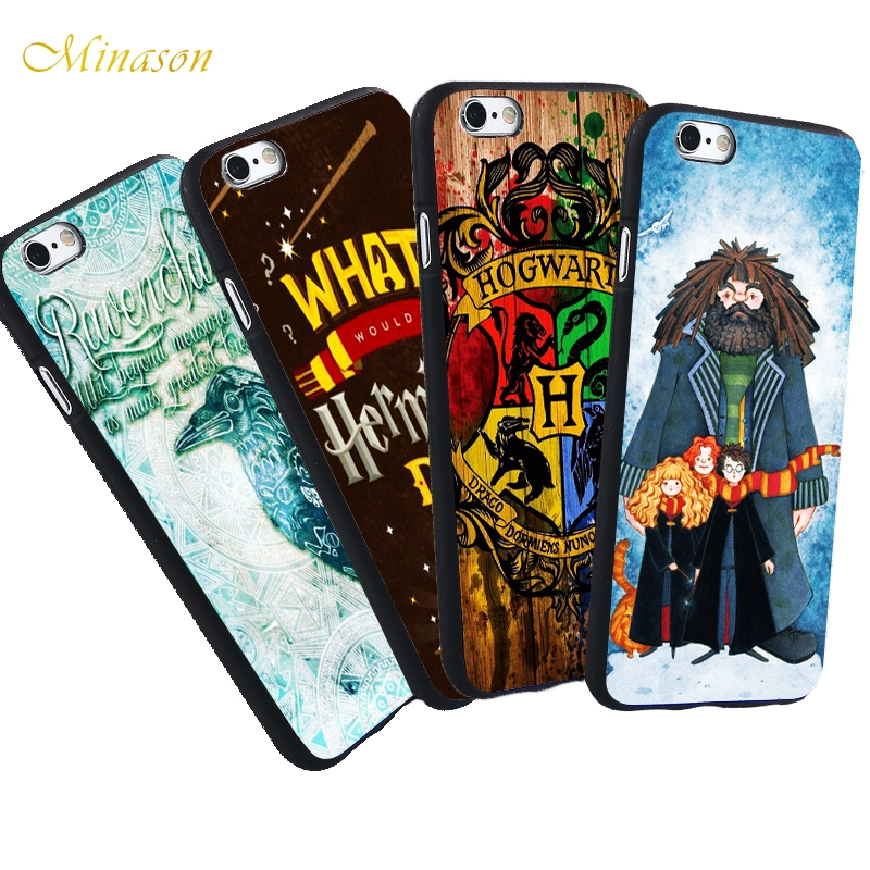 Minason Case For iPhone X 8 5 S 5S SE 7 Plus 6 6S Case Avada Kedavra Bitch Oie Harry Potter Travelling Character Soft TPU Cover