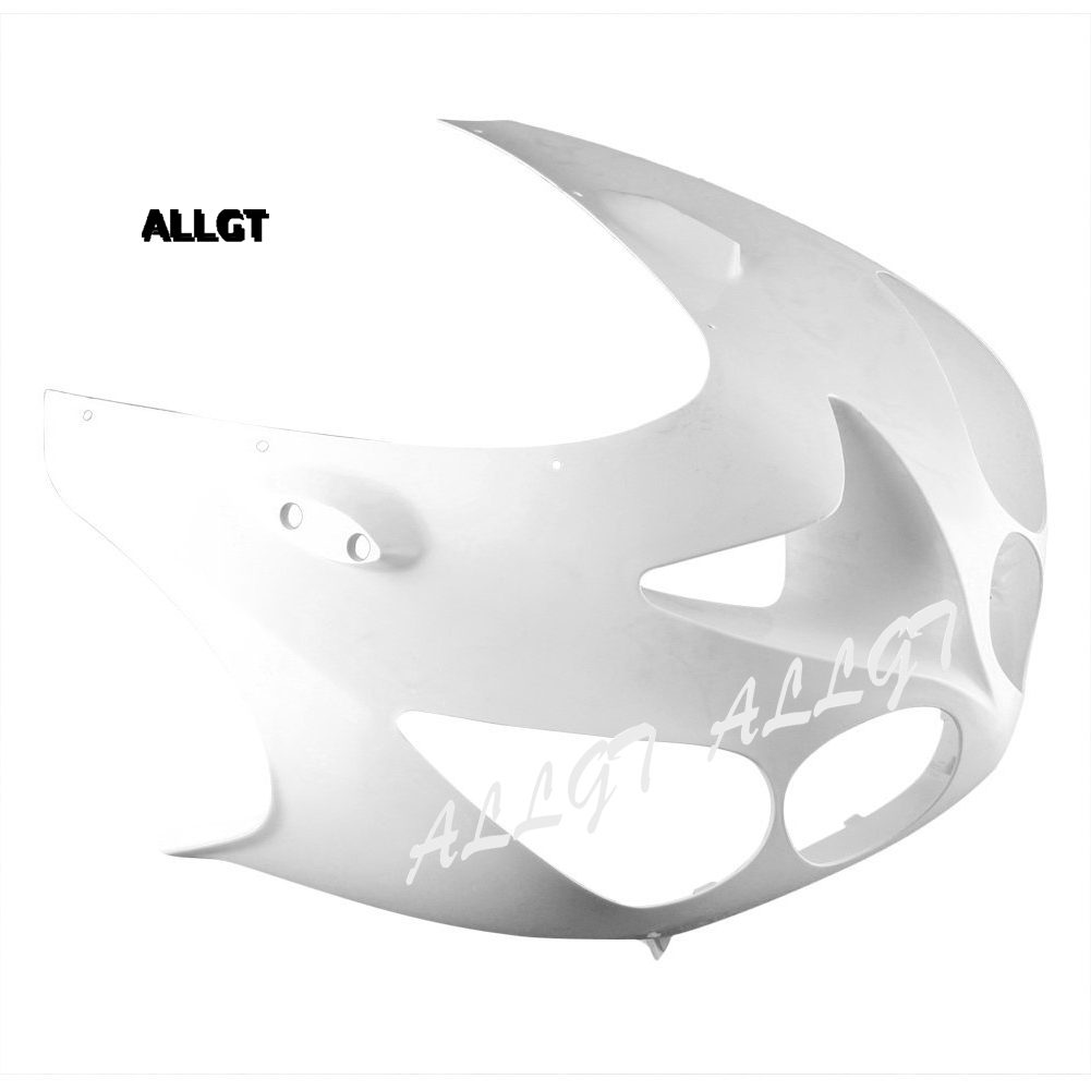 ALLGT Motorcycle Upper Front Headlight Fairing Nose For KAWASAKI ZX14R 2006 2007 2008 2009 2010 2011 Unpainted ABS Injection black moto fairing kit for kawasaki ninja zx14r zx 14r zz r1400 zzr1400 2006 2007 2008 2009 2010 2011 fairings custom made c549