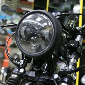 Image 5 - Motorcycle LED Headlight Hi&Lo HeadLamp Bulb DRL With Angel Ring for Harley Sportster Cafe Racer Bobber