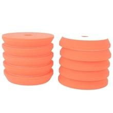 MAYITR 10PCS 6 INCH 150mm Polishing Sponge Waxing Buffing Plate Pads Pad Kit Set Cleaning Tools For Car Polisher