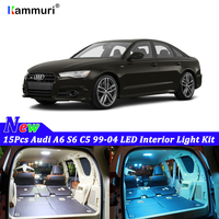 15pcs White Canbus led Car interior lights Package Kit For Audi A6 S6 C5 1999 2000 2001 2002 2003 2004 LED interior light Kit