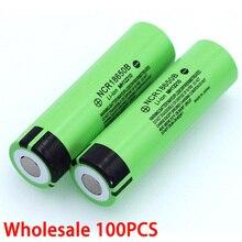 100 سعر جديد الأصلي NCR18650B 3.7 فولت 3400mah 18650 بطاريّة ليثيوم قابلة لإعادة الشحن لبطاريات المصباح بالجملة