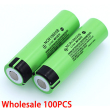 100price New Original NCR18650B 3.7v 3400mah 18650 Lithium Rechargeable Battery For Flashlight batteries wholesale