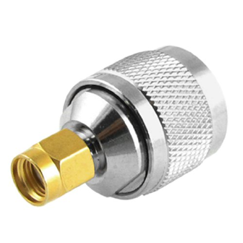 Promotion! New Silver N Type Male to RP-SMA Male Plug Adapter Coaxial Cable Connector