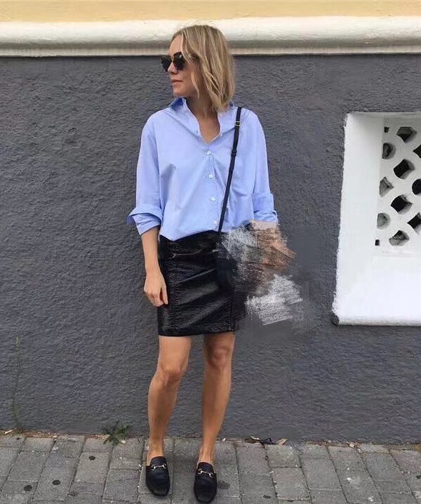 WISHBOP Frau Blau Baumwolle Übergroßen Capri hemd Freund Shirts Frau top HOHE QUALITÄT-in Blusen & Hemden aus Damenbekleidung bei  Gruppe 1