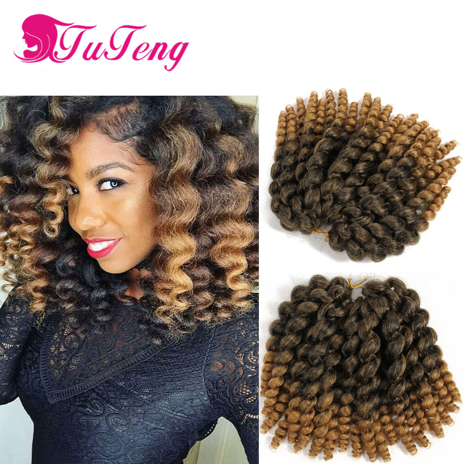 Braids curly Crochet Hair Extensions 22 Roots/Piece synthetic African ...