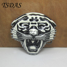 Retro Silver 3D Tiger Metal Belt Buckle Suitable 3.5cm Wide Belt NEW Western Men Women Jeans accessories