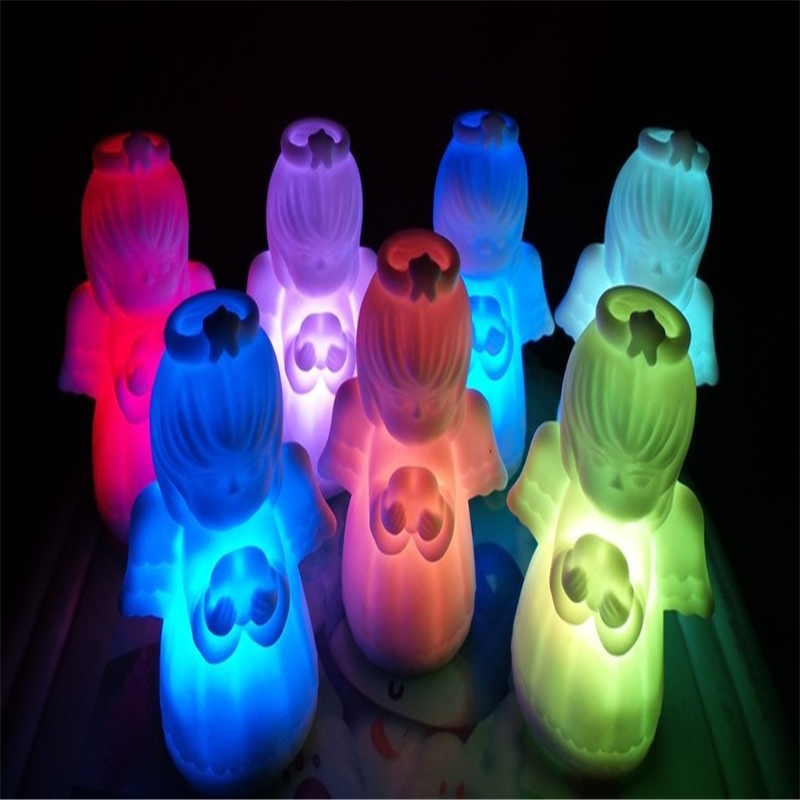 LED Lamp Angel night Light Colorful Baby Nightlight Cute Small LED Night Light for Christmas Gifts