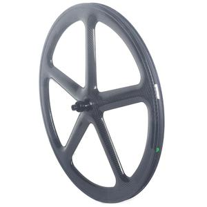 Image 3 - 5 raios de estrada carbono rodado freio a disco clincher rodas tubulares 700c centerlock 6 parafusos bloqueio