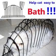 2016 Fashion pet cat bathe cage bed 3 Size S M L Iron Wire Dedicated Transport Bath Pets Cat Safe Gird Separation Cage