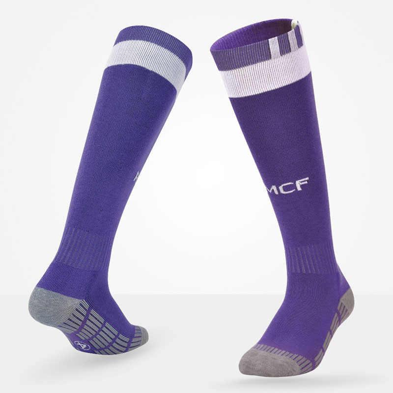 b5bf39059d66 ... Soccer Socks Professional Clubs Football Thick Warm RMCF Team Socks  Knee High Training Long Stocking Sports ...