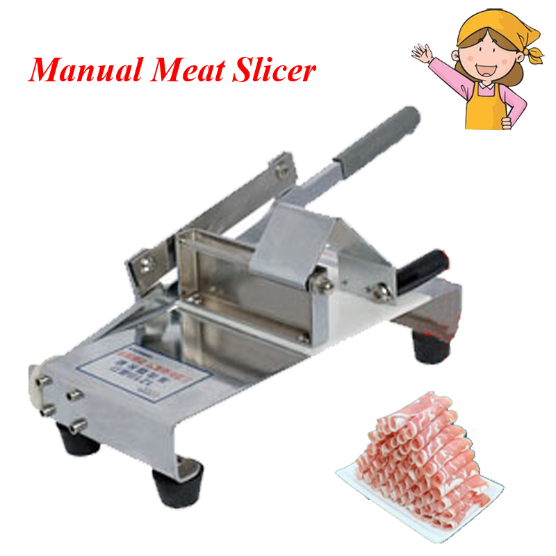 1pc Manual Meat Cutting Machine Household Mutton Roll Slicer Food Processor Stall-fed Meat Slicer new conditioner stainless steel 0 17 mm thickness mutton roll slicer machine frozen meat cutting machine price