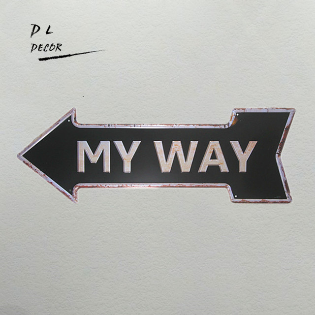 Dl My Way One Way Classic Arrow Iron Painting Living Room Decoration