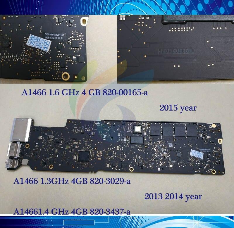 Orignal 1 3GHz 1 4GHz 1 6GHz 1 7GHz 4G Logic Board for MacBook Air 13