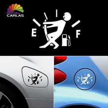 Waterproof 1 Pcs Funny Car Sticker Pull Fuel Tank Pointer To Full Hellaflush Reflective Vinyl Car Sticker Decal