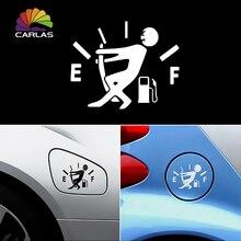 À prova d água 1 Pcs Engraçado Etiqueta Do Carro Hellaflush Reflexivo Puxar Ponteiro Para Completa Do Tanque de Combustível Etiqueta Do Carro Vinil Decalque