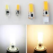 1pcs Mini G4 LED COB Lamp 2W 5W Bulb AC DC 12V 220V Candle Silicone Lights Replace 20W 30W 40W Halogen for Chandelier Spotlight