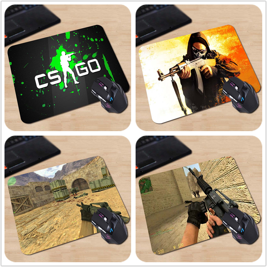 Cs Go sign players Gaming Desk Mat Personalized Durable Mouse Pads 18 22cm and 25 29cm