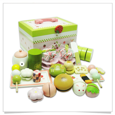 Children's wooden play house toys Wooden toys  simulation afternoon tea  delicious food suits gift new arrival baby toys strawberry simulation chocolate cake cut set pretend play kitchen afternoon tea wooden toys birthday gift
