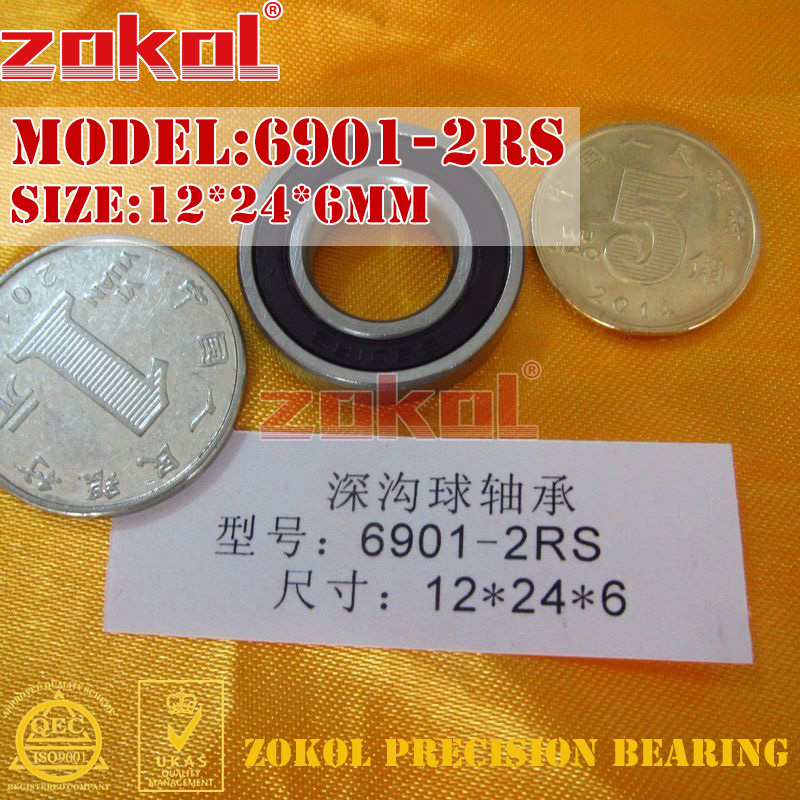 ZOKOL 6901 Rs Bearing 6901 2RS ZZ Z1 6901ZZ 6901zz Deep Groove Ball Bearing 12*24*6mm