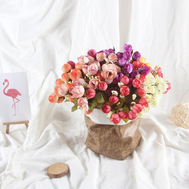 High Quality Mini Rose Style Flowers Spring Scenery Rose Artificial