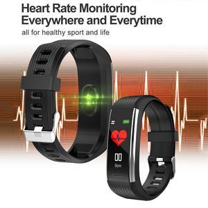 Image 4 - Смарт часы R1 для мужчин и женщин, фитнес трекер с функцией измерения пульса и давления, спортивные наручные часы для Ios, Android, PK, Mi Band 4