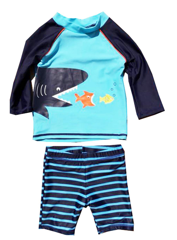 eKooBee Infant Baby Boys Sunsuits Rash Guard Swimsuit Swimwear UPF 50 Sun Protection Aqua