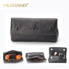 MUXIANG Soft PU Leather Bag Clutch for 2 Pipes Portable Tobacco Smoking Pipe Case/Pouch Smoking Tools Accessories FC0014